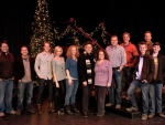 Tyler with Forgotten Carols cast and crew December 2012