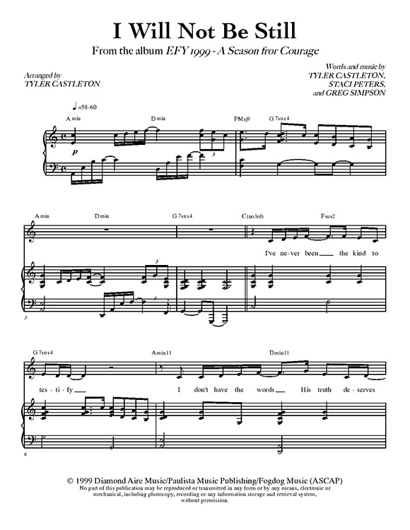 Tyler Castleton » Sheet Music