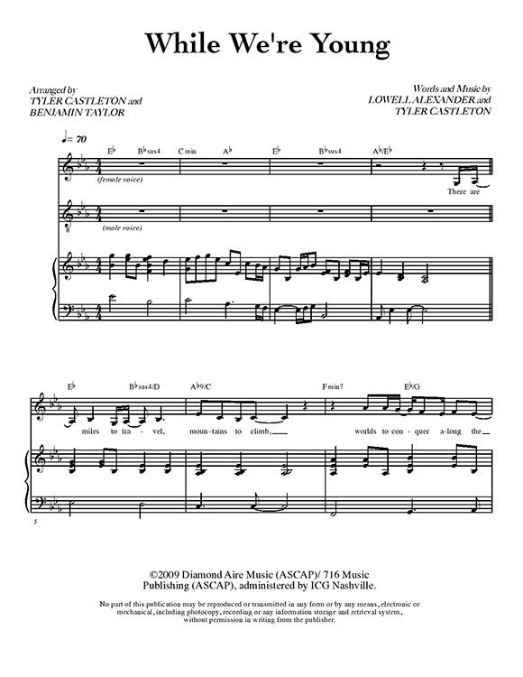 Tyler Castleton Sheet Music