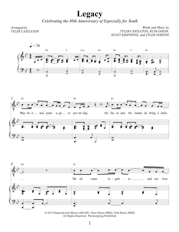 Tyler Castleton Sheet Music